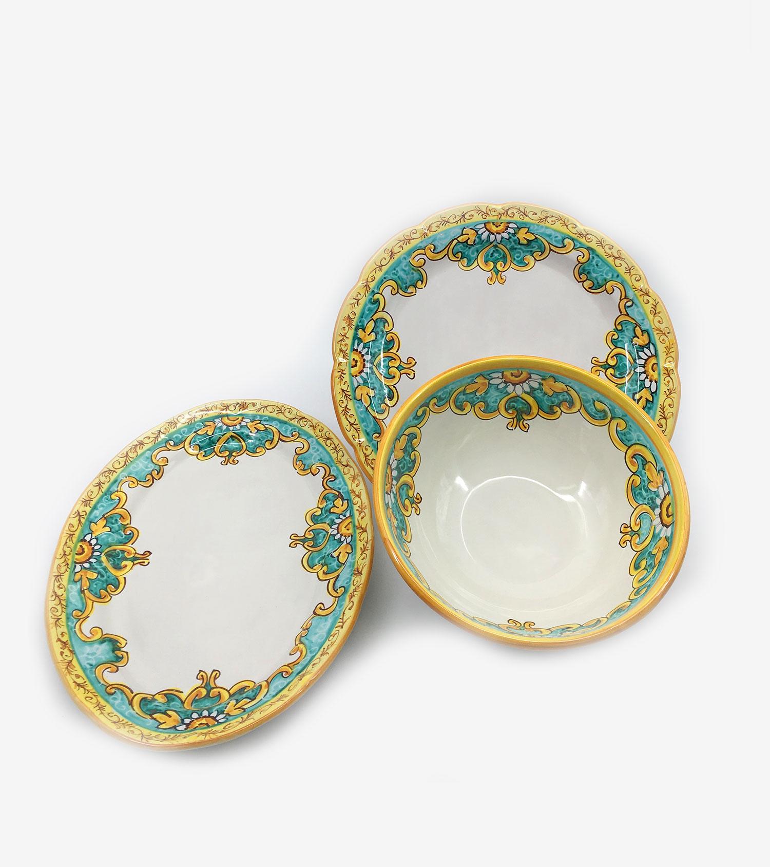Piatti In Ceramica Prezzi.Ceramiche Vietri Avossa Piatti Vietresi Da Portata Per Set Piatti